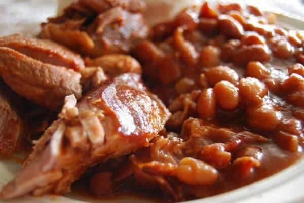 Фасоль с мясом